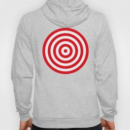 Red target on white background Hoody
