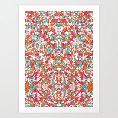 Chaotic Triangle Balance Art Print