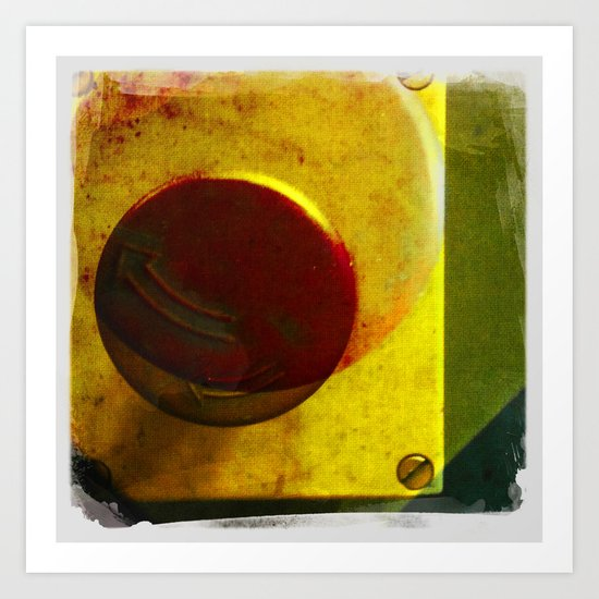 the red button Art Print