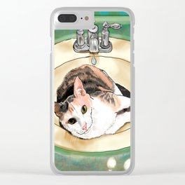 Catrina in the Sink Clear iPhone Case