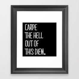 Carpe Diem ///www.pencilmeinstationery.com Framed Art Print
