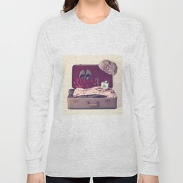 Vintage Journey Suitcase (His) (Retro and Vintage Still Life Photography) Long Sleeve T-shirt