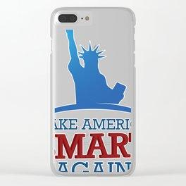 Make America Smart Again Clear iPhone Case