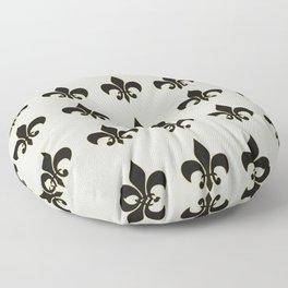Fleur de lis.... ivory,gold and black Floor Pillow