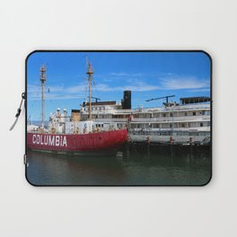 Riverboat Legacy and Fireship Columbia on Columbia River Laptop Sleeve