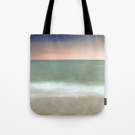 Serenity sea. Sunset a the beach. Tote Bag