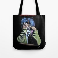 jazz Tote Bags featuring JAZZ by ink0023