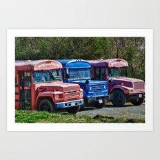 Three Busses Art Print