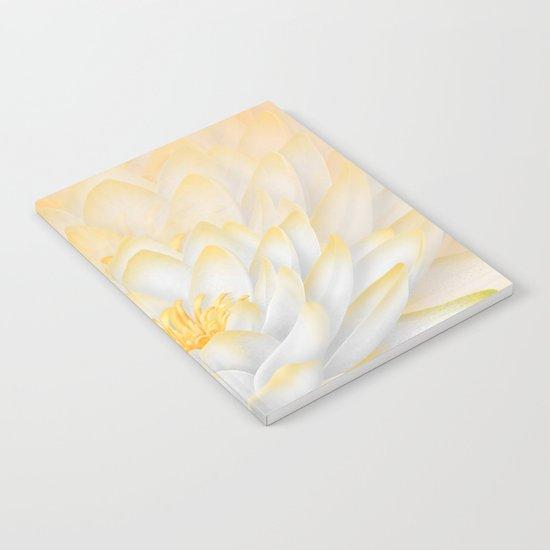 White Peach Lotus Notebook
