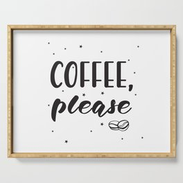 Coffee lettering Serving Tray