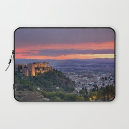 The alhambra and Granada city at sunset Laptop Sleeve