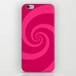 pink vortex iPhone Skin