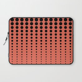 Reduced Black Polka Dots Pattern on Solid Pantone Living Coral Background Laptop Sleeve