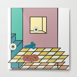 double-floored mauve face room no. 1 Metal Print