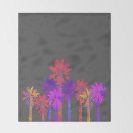 Vibrant Palmtrees No.1 Throw Blanket