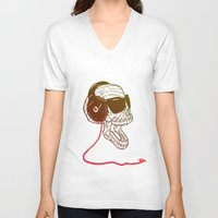 sound V-neck T-shirts featuring Sound by Kier-James