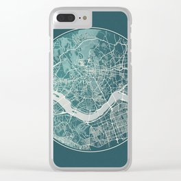 Seoul Map Planet Clear iPhone Case