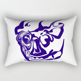 face8 blue Rectangular Pillow