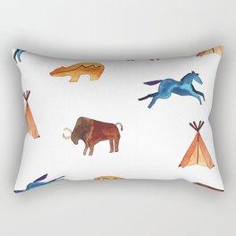 Tribal Indian Art and Teepee Pattern Rectangular Pillow