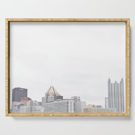 Skyline of Pittsburgh from the North Side Serving Tray