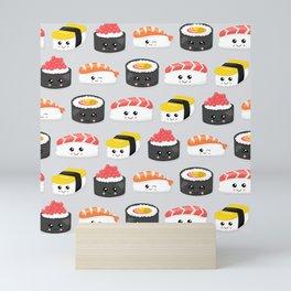 Neck Gaiter Kawaii Sushi Sashimi Neck Gator Mini Art Print