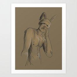 Broken Bunny Art Print