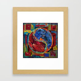 Head Over Tails Framed Art Print