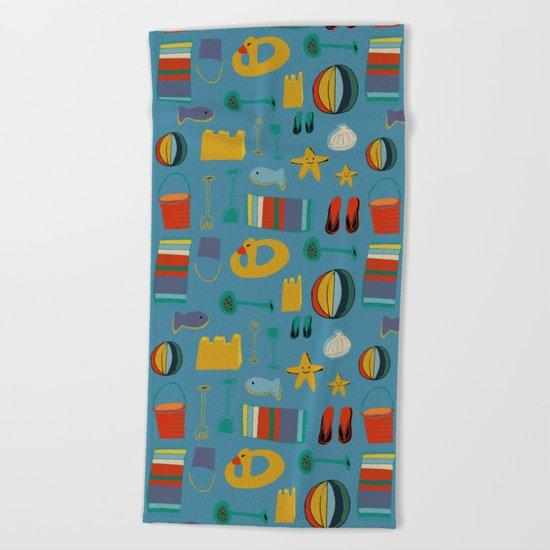 beach gear blue Beach Towel