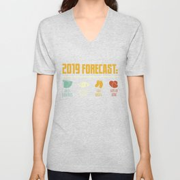 2019 Fore Cast Dirty Diapers Sleepless Nights Tiny Socks Lots Of Love T-Shirt Unisex V-Neck