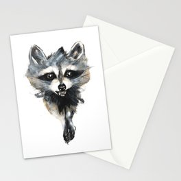 Raccoon stealing seeds! Stationery Cards