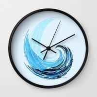 la Wall Clocks featuring - La Vague - by Magdalla Del Fresto