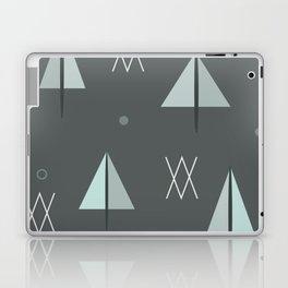 Mid Century Snowy Forest (Night) Laptop & iPad Skin