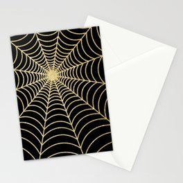 Spiderweb | Gold Glitter Stationery Cards