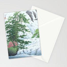 Kawase Hasui, Yudaki Waterfall In Nikko - Vintage Japanese Woodblock Print Art Stationery Cards