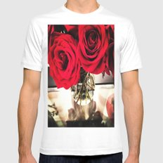 Roses  Mens Fitted Tee White MEDIUM