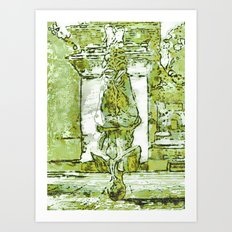 MONK PRAYER BY Cd KIRVEN Art Print