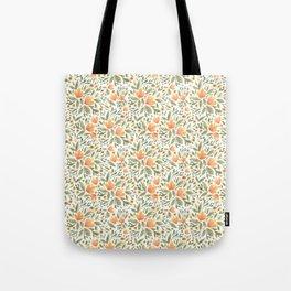 Peachy Flower Medley Tote Bag