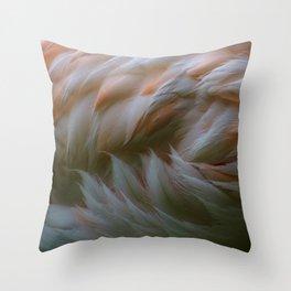 flamingo concentrate Throw Pillow