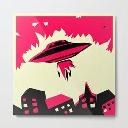 UFO I BELIEVE Metal Print