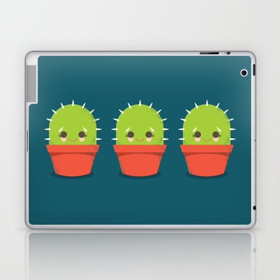 Kawaii Cactus Dude Laptop & iPad Skin