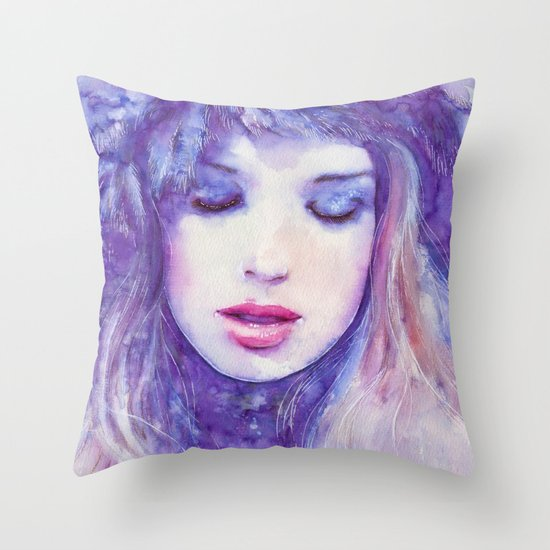 Song to the skies Throw Pillow
