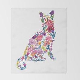 Flower Cat Throw Blanket