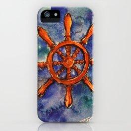Ships Wheel iPhone Case