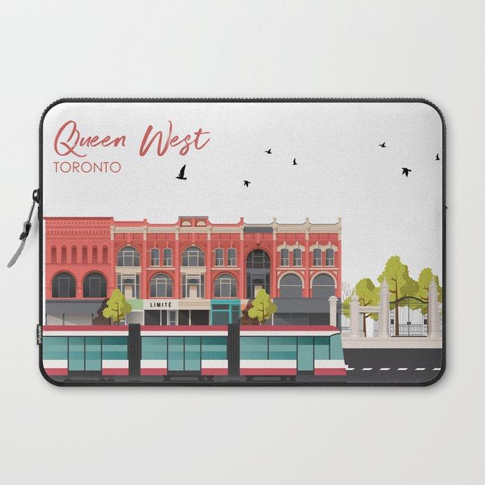 Queen West - Toronto Neighbourhood Laptop Sleeve