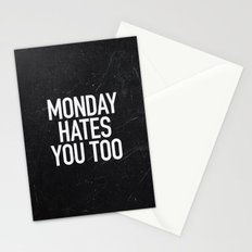 Monday Hates You Too Stationery Cards