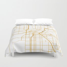 MINNEAPOLIS MINNESOTA CITY STREET MAP ART Duvet Cover