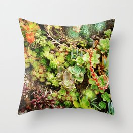 Awesome Succulent Garden Party Soiree Throw Pillow