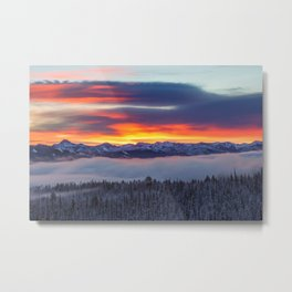 Sunrise over the White Clouds Metal Print