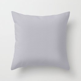 Pantone Lilac Gray Small Honeycomb Pattern Throw Pillow