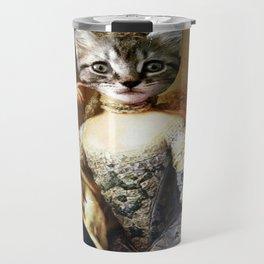 Pretty Kitty Sitting Travel Mug